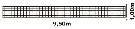 Rede Volei Oficial Standard, Uma Faixa Lona, Fio 2mm, Nylon  - Vitoria Esportes
