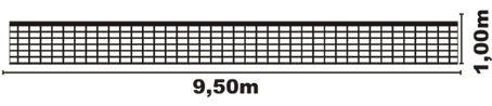 Rede Vôlei Profissional Oficial, 4 Faixas Lonas, Fio 2, Seda