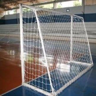 Rede Para Goleiras Futsal Futebol Salao Oficial Fio 2 Nylon  - Vitoria Esportes