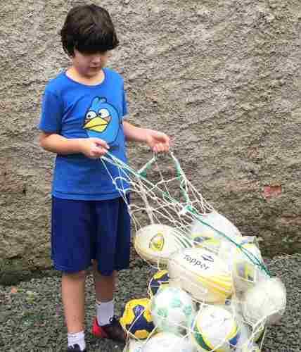 Rede Saco Profissional Para Carregar Bolas Tranporte  - Vitoria Esportes
