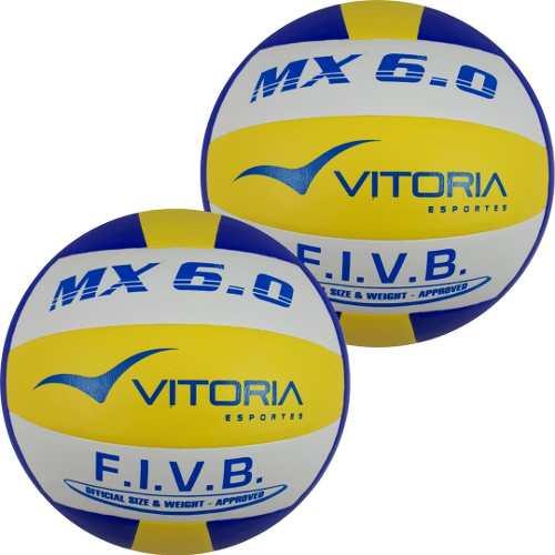 Kit 2 Bolas Volei Oficial Vitoria Mx 6.0 Pu