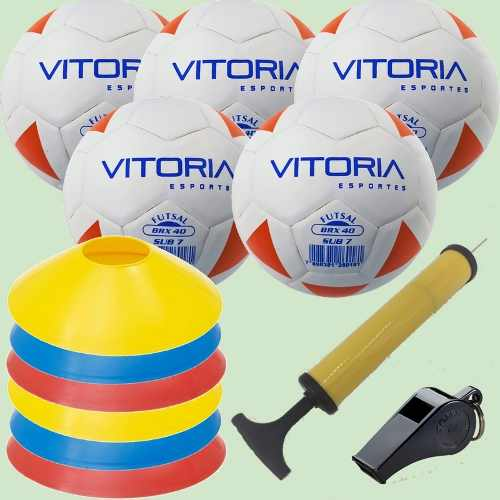Kit Escolinha De Futsal Sub 7 Bola Max 40 + Acessórios  - Vitoria Esportes