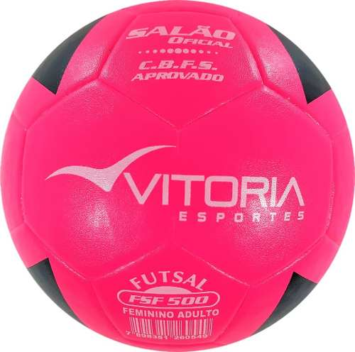 kit 3 Bolas Futsal Vitória Oficial Feminina Fsf 500