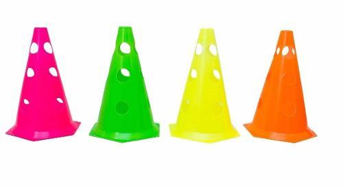 Kit 8 Cones Plástico 24 Cm Treinamento Funcional Furado  - Vitoria Esportes