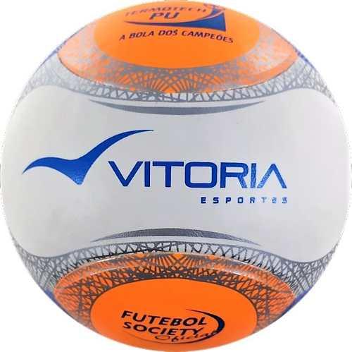 Bola Futebol Sete   Society Oficial Termotec PU + bomba - Vitoria Esportes 1399f99894a6d