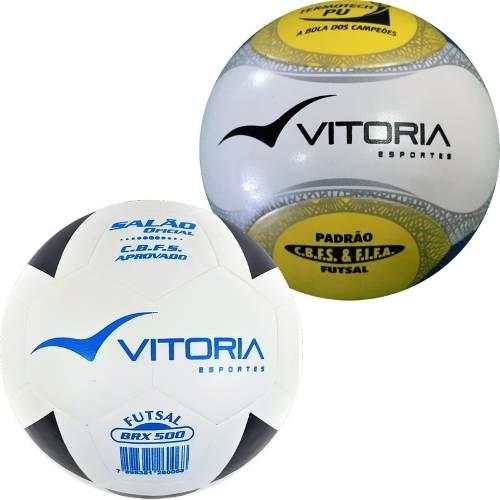 2 Bolas Futsal Oficial: 1 Termotec 500 + 1 Brx 500  - Vitoria Esportes