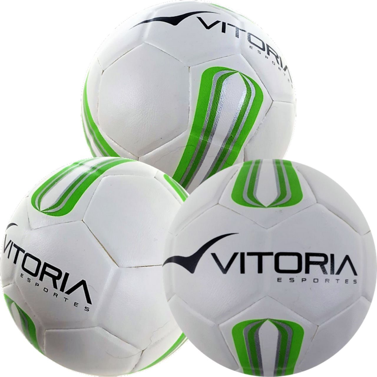3 Bolas Futsal Vitoria Oficial Prata Max 50 Sub 9