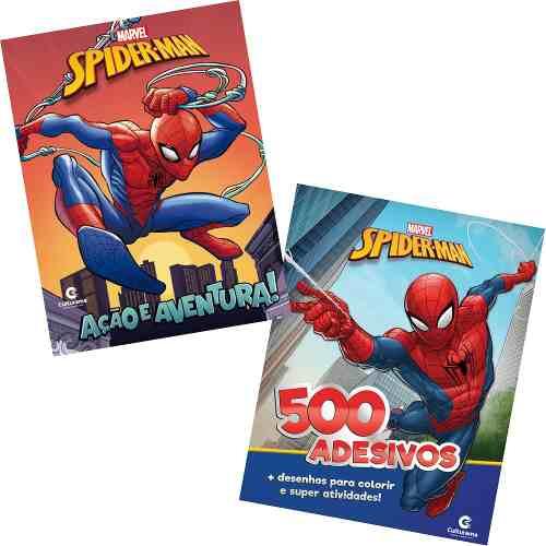Kit 2 Livros Marvel Homem Aranha Origem 500 Adesivos Ativides  - Vitoria Esportes