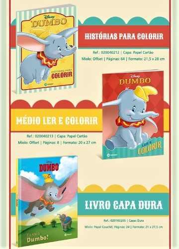 Kit Dumbo Disney Luxo + 2 Atividades De Colorir + Brinde  - Vitoria Esportes
