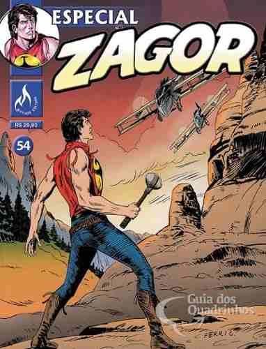 Revista Hq Gibi - Zagor Especial 54 - Piratas do Céu - História Completa 290 pg  - Vitoria Esportes