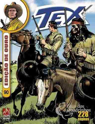 Revista Hq Gibi - Tex Ouro 90 - Os Irmãos Donegan  - Vitoria Esportes