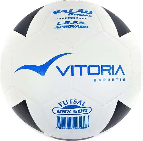 Bola Futsal Vitória Oficial Vulcanizada Brx 500 - 3 Unidades  - Vitoria Esportes