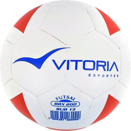 Kit 3 Bolas Futsal Vitoria Brx Max 200 Sub 13 (11 A 13 Anos)
