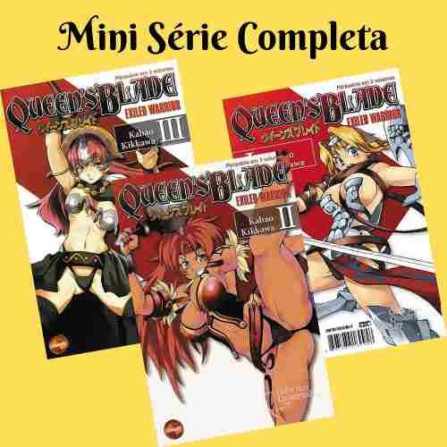 Mangá Hq Queen´s Blade 1 2 3 - Mini Série Completa Em 3 Edições  - Vitoria Esportes