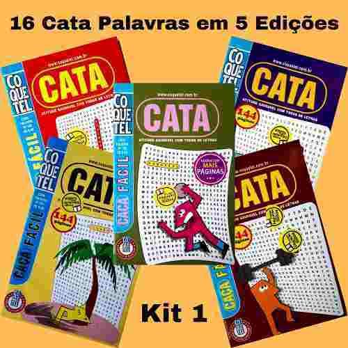16 Cata Caça Palavras Coquetel Em 5 Edições Encadernadas K1  - Vitoria Esportes