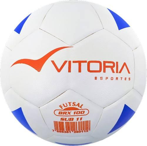 kit 2 Bolas Futsal Vitoria Brx 100 Sub 11 mirim + Bomba Ar  - Vitoria Esportes