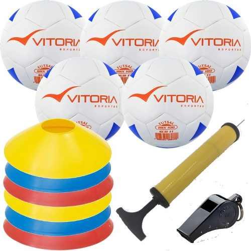 Kit Escolinha De Futsal Sub 11 Bola Max 100 + Acessórios  - Vitoria Esportes