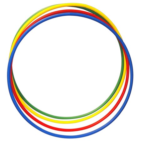 Bamboles Kit C/ 6 Unid. Arcos Plasticos Coloridos Ginastica  - Vitoria Esportes