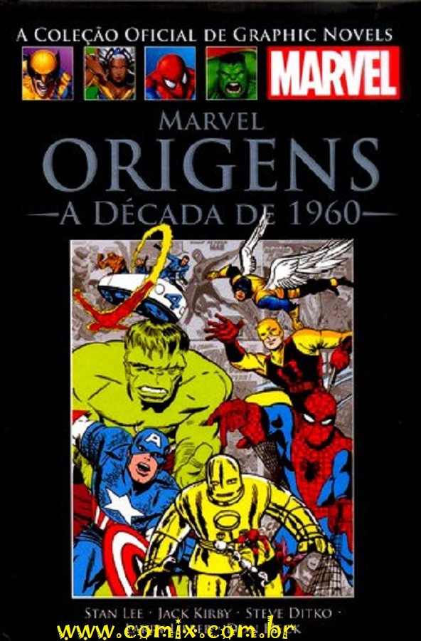Graphic Novels Marvel - Clássicos n° 1 - Marvel origens: A década de 1960  - Vitoria Esportes