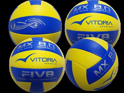 Kit 4 Bolas Volei Oficial Vitoria Mx 8.0 Pro Ultra Macia  - Vitoria Esportes