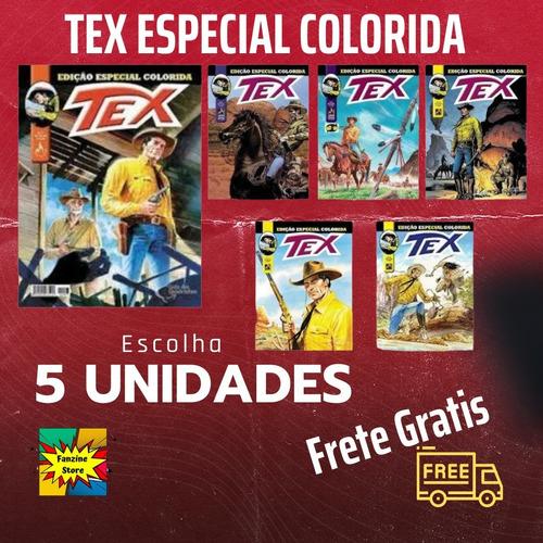 Kit 5 Edições De Tex Especial Colorida - Histórias Completas  - Vitoria Esportes