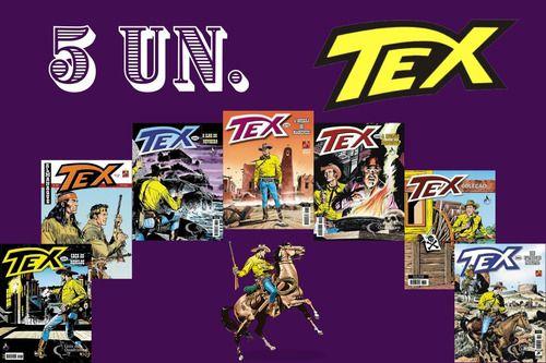 Kit 5 Hqs Gibi Tex Mensal, Coleção Ou Almanaque  - Vitoria Esportes