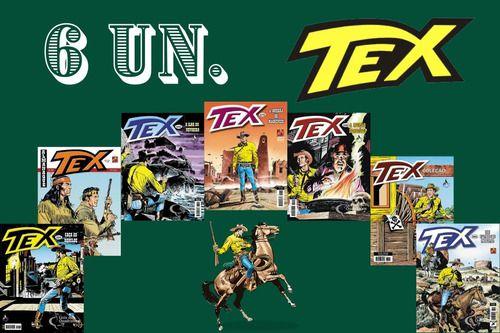 Kit 6 Hqs Gibi Tex Mensal, Coleção Ou Almanaque  - Vitoria Esportes