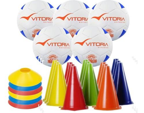 Kit Escolinha De Futsal Sub 11 Bola Max 100 + Kit Cones  - Vitoria Esportes