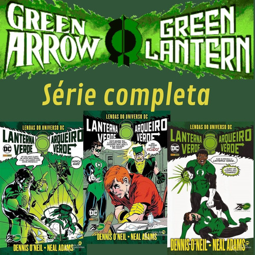 Kit Hq Lanterna Verde E Arqueiro Verde 1, 2, 3 Novo Completo  - Vitoria Esportes