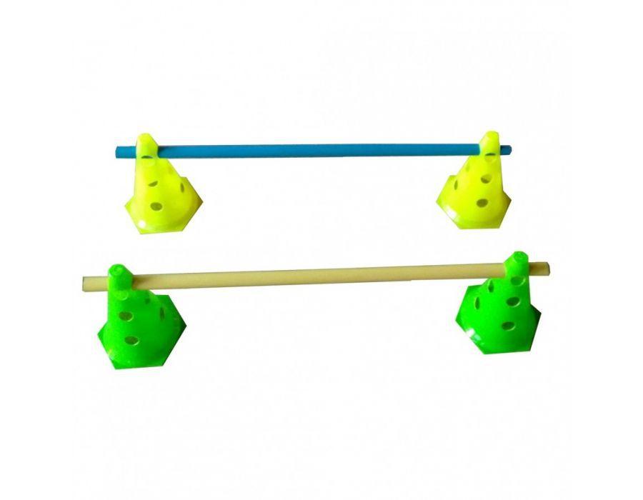 Kit Treinamento 3 Níveis 4 Cones 24cm + 2 Tubos 80cm Futebol  - Vitoria Esportes