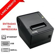Impressora Térmica Elgin i9 Ethernet USB e Serial c/ Buzzer