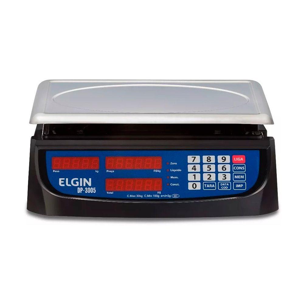 Balança Computadora Elgin DP3005 30kg 5g Com Bateria