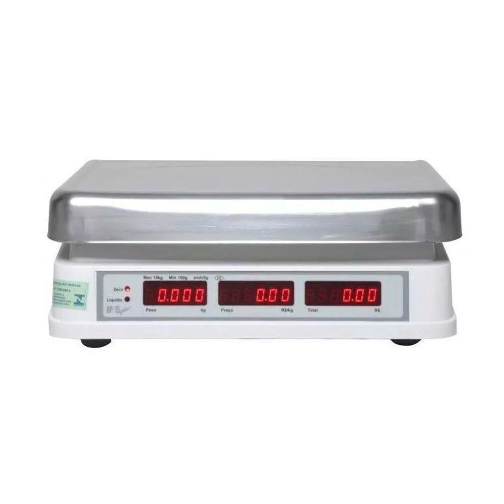 Combo Balança Elgin DP 1502, Impressora de Etiqueta L42 DT, Cabo Serial, 5 Rolos de Etiqueta 40x40