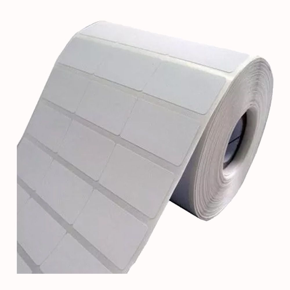 Etiqueta 34x23 mm Branca 3 colunas BOPP removível
