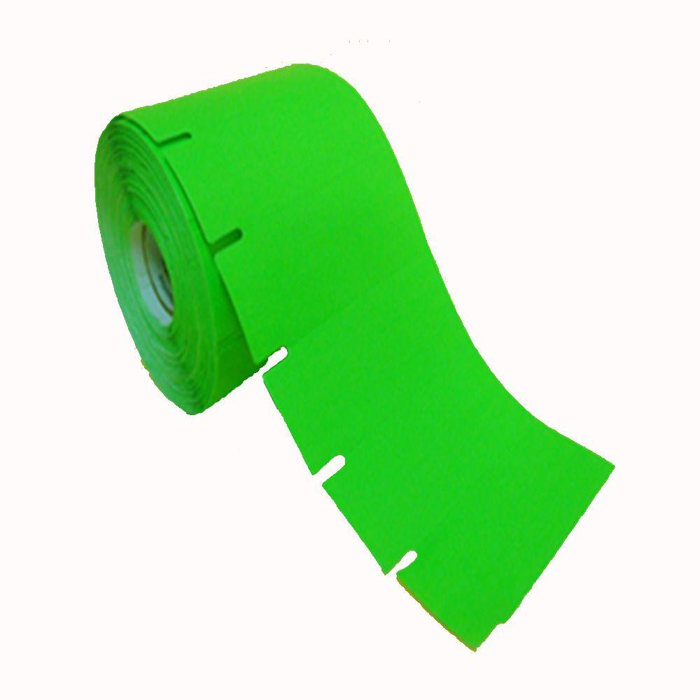 Etiqueta Gondola 90x30 mm Verde Fluorescente