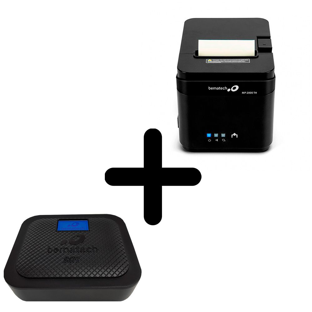 KIT SAT Fiscal Bematech GO + Impressora Não Fiscal MP-2800 TH USB, Serial e Ethernet