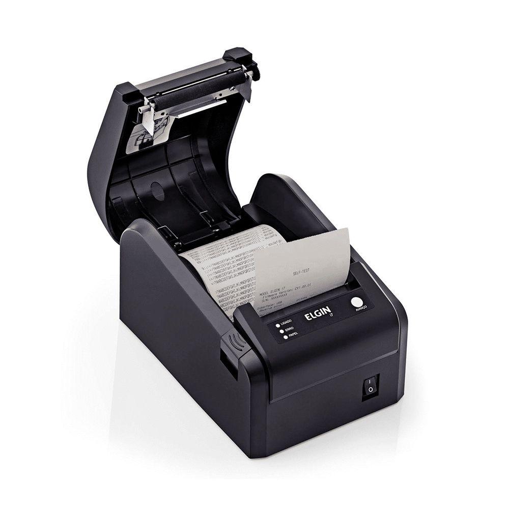 Kit Sat Fiscal Elgin Smart + Impressora Não Fiscal Térmica Elgin I7 USB Serrilha