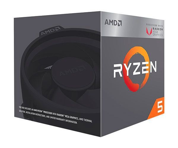 Processador AMD Ryzen 5 2400G Quad-Core 3.6GHZ (3.9GHZ Turbo) 6MB CACHE AM4, YD2400C5FBBOX