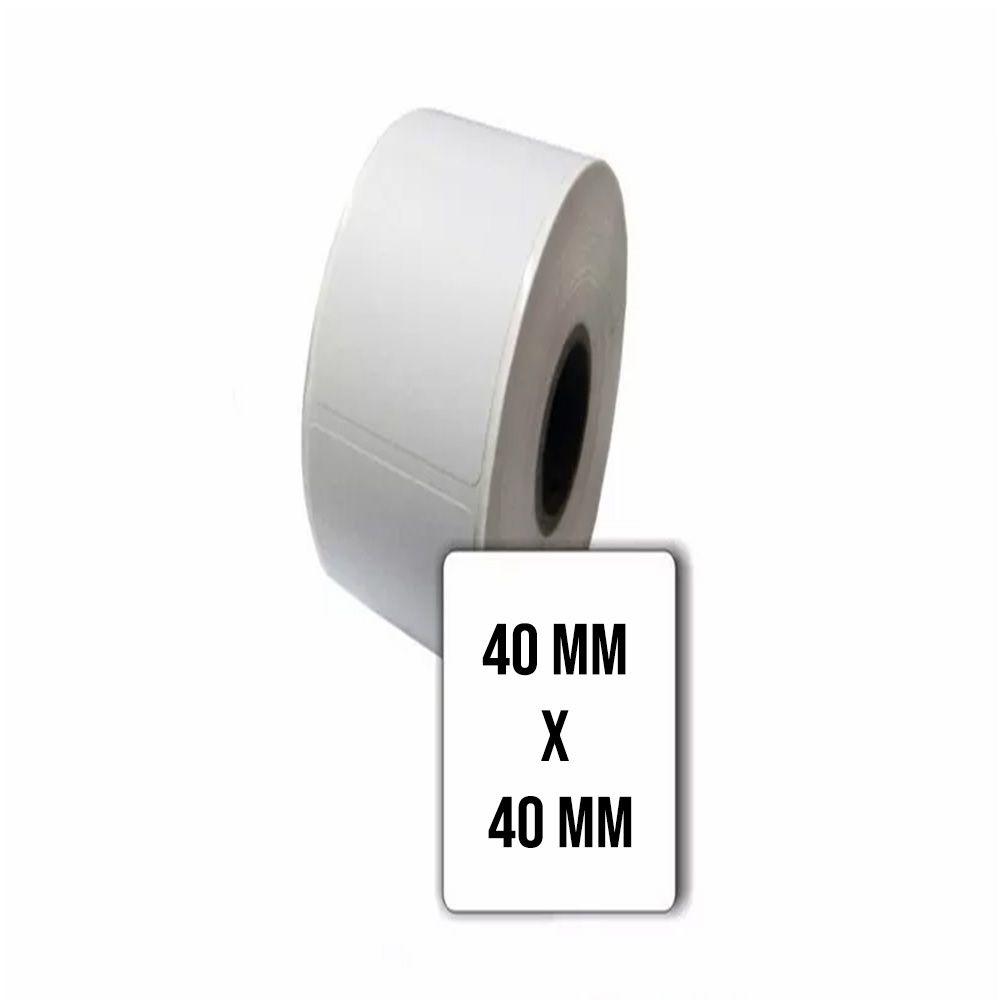 Etiqueta Térmica Balança Toledo 40X40 mm Caixa com 80 rolos 25 metros