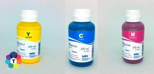 3 Frascos De 100 Ml - Tinta Pigmentada Inktec Hp - H8940