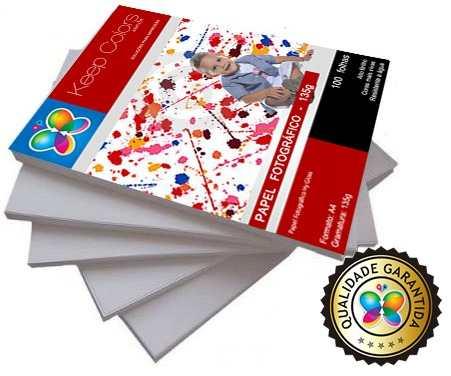 Papel Fotográfico 135g Hy-glossy Prova Dágua - 500 Folhas A4