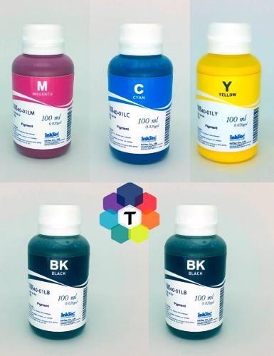 5 Frascos De 100 Ml - Tinta Pigmentada Inktec Hp - H8940