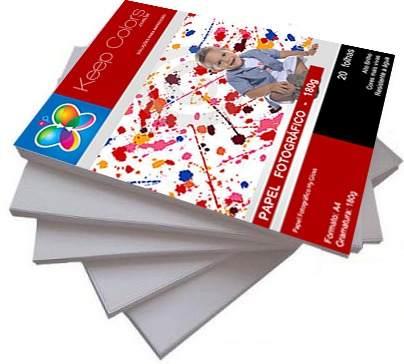 Papel Fotográfico 180g Hy-glossy Prova Dágua - 100 Folhas A4