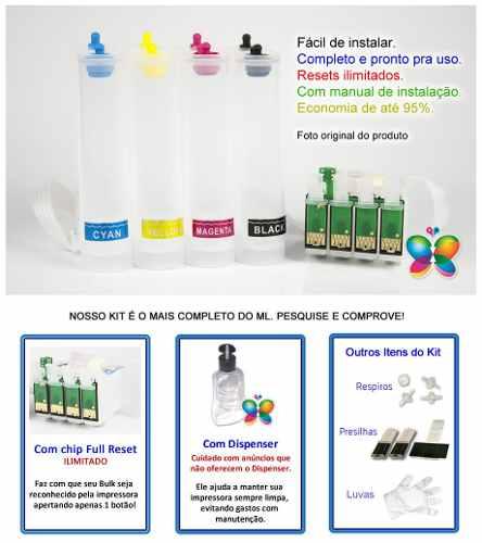 Bulk Ink Para Epson Tx105 Tx115 T24 T23 + Kit Limpeza - Sem Tinta
