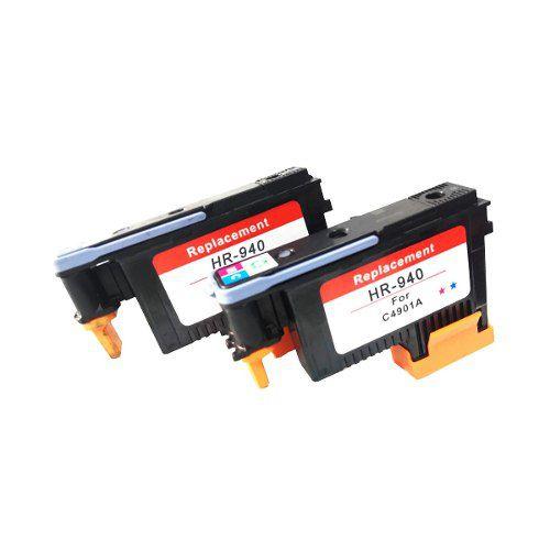 Kit 2 Cabeças De Impressão Compatíveis 940( C4901a ) Hp By-cm