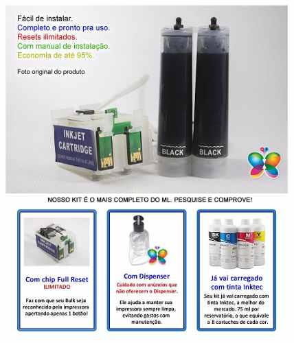 Bulk Ink Para Epson K101 K301 Mono + Kit Tinta Extra + Brinde