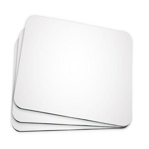50 Mouse Pad Retangular Branco Resinado Sublimação Mecolour