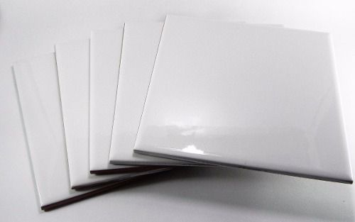 40 Azulejos Brancos Resinados Para Sublimação 20x20