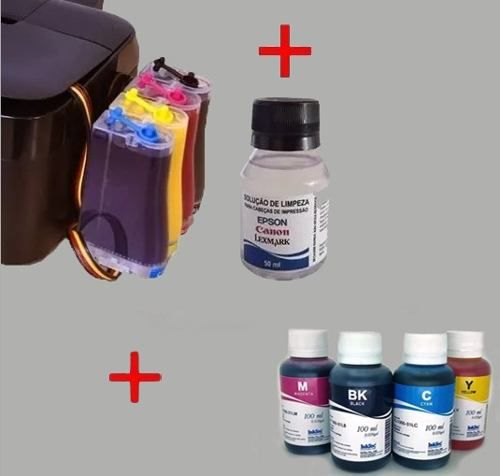 Bulk Ink Para Epson Tx620 Tx560 T42w +4 Frascos De Tinta + Brinde