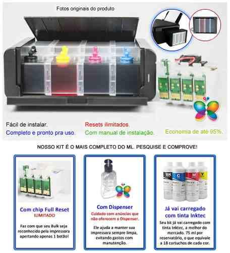 Bulk Ink Para Epson Tx200 Tx220 Tx400 Tipo Luxo + Tinta Extra